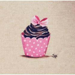 tissu cup cake rose